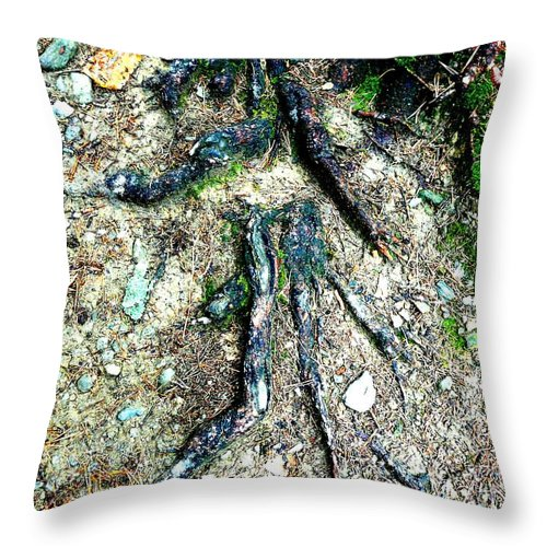 Roots Throw Pillow featuring the photograph Dancer by Valerie Ornstein