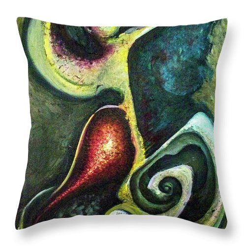 Abstract Throw Pillow featuring the painting Dancers by Heather Joi