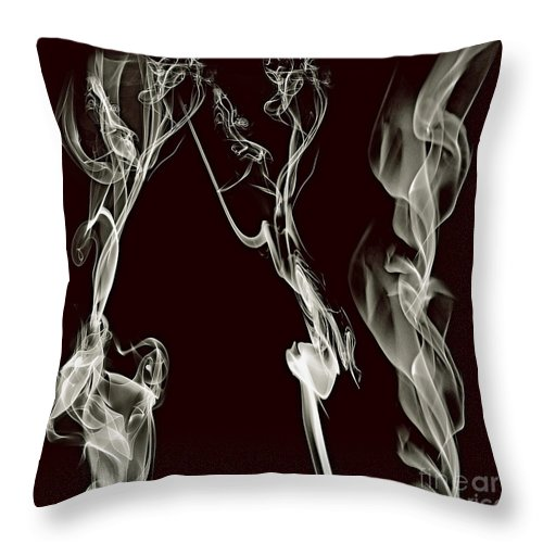 Clay Throw Pillow featuring the digital art Dancing Apparitions by Clayton Bruster