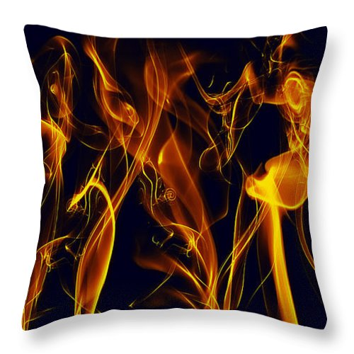Clay Throw Pillow featuring the digital art Dancing by Clayton Bruster