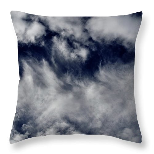 Clay Throw Pillow featuring the photograph Dancing Clouds by Clayton Bruster