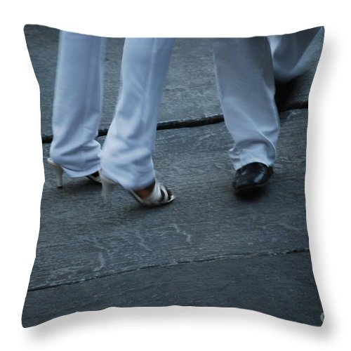Dancing Throw Pillow featuring the photograph Dancing Feet At The Dominican Republic Son Party Number Two by Heather Kirk