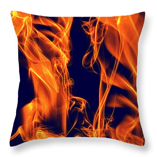 Clay Throw Pillow featuring the digital art Dancing Fire I by Clayton Bruster