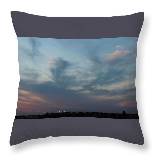 Throw Pillow featuring the photograph Dancing Horse by Chris Patel