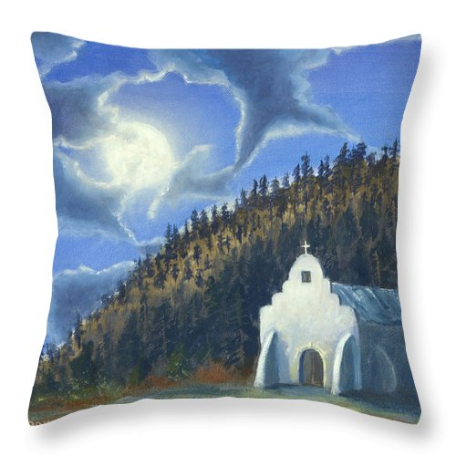 Landscape Throw Pillow featuring the painting Dancing in the Moonlight by Jerry McElroy