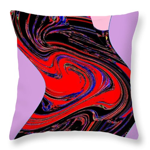 Abstract Throw Pillow featuring the digital art Dancing Queen Roline by Will Borden