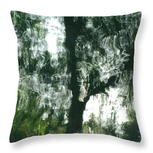 Water Throw Pillow featuring the photograph Dancing Trees by Donna Blackhall