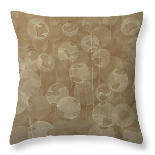 Abstract Throw Pillow featuring the painting Dandelion by Jitka Anlaufova