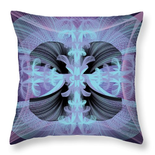 Fantasy Throw Pillow featuring the digital art Dandilion Puffs by George Pasini