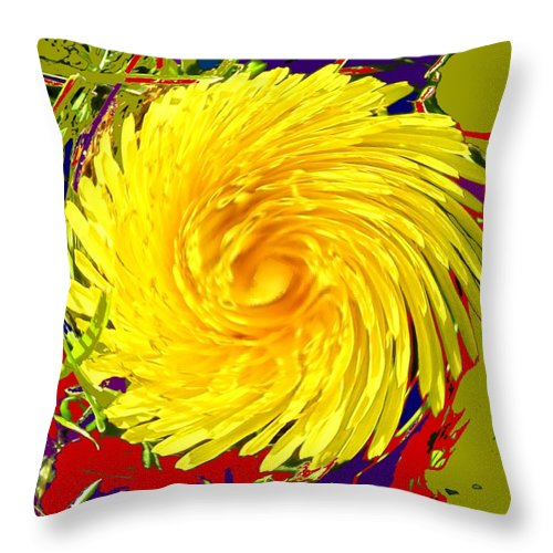 Flower Throw Pillow featuring the photograph Dandy Three by Ian MacDonald