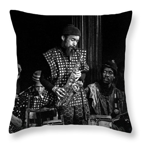 Jazz Throw Pillow featuring the photograph Danny Davis With Sun Ra Arkestra by Lee Santa