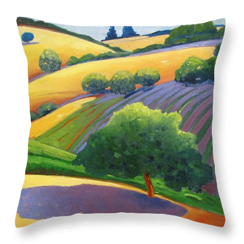 Landscape Throw Pillow featuring the painting Danny by Gary Coleman