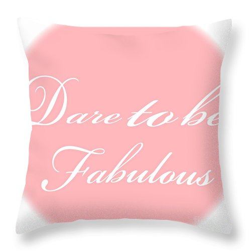 Fabulous Throw Pillow featuring the painting Dare To Be Fabulous #1 by Saundra Myles