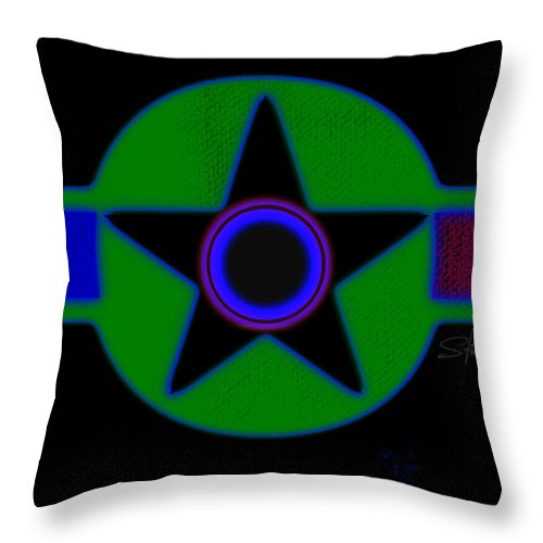 Usaaf Throw Pillow featuring the painting Dark Green by Charles Stuart