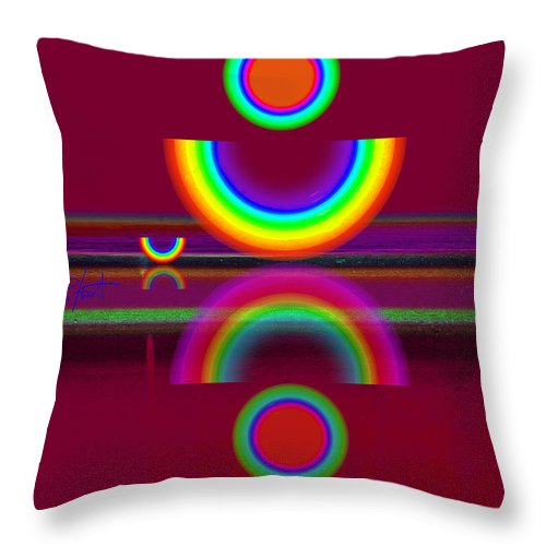 Reflections Throw Pillow featuring the painting Dark Heat by Charles Stuart