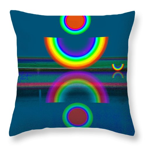 Reflections Throw Pillow featuring the painting Dark Mirror by Charles Stuart