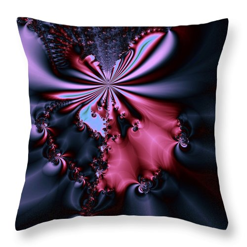 Digital Art Throw Pillow featuring the digital art Dark Orchid by Amanda Moore