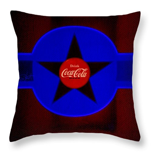 Label Throw Pillow featuring the painting Dark Red by Charles Stuart