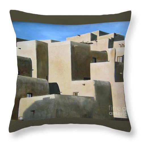 Art Throw Pillow featuring the painting Dark Shadows by Mary Rogers