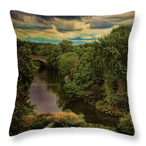 Avon Throw Pillow featuring the photograph Dark Skies Over The Avon by Chris Lord