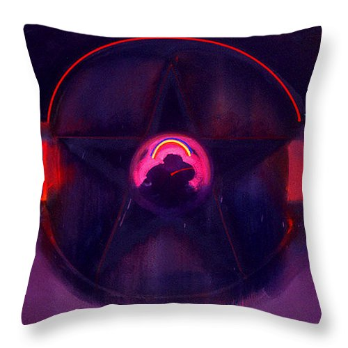 Usaaf Insignia Throw Pillow featuring the painting Dark Star by Charles Stuart