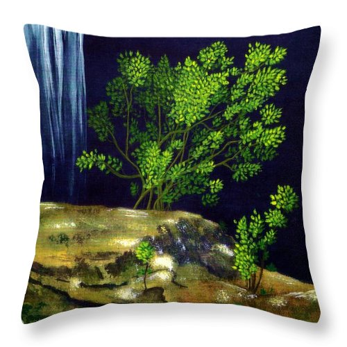 Fine Art Throw Pillow featuring the painting Dark Waters by Patricia Griffin Brett