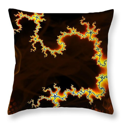 Clay Throw Pillow featuring the digital art Dark World by Clayton Bruster