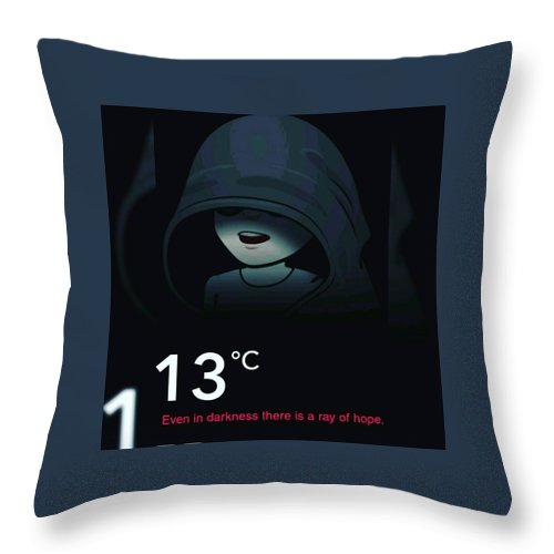 Dark Throw Pillow featuring the photograph Darkness by Anant Prakash