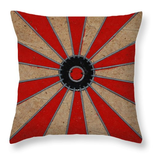 Art Throw Pillow featuring the photograph Dart Board by Rob Hans