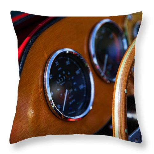 Throw Pillow featuring the photograph Dash Board by Timoke Brown