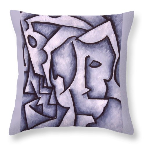 Abstract Throw Pillow featuring the painting David by Thomas Valentine
