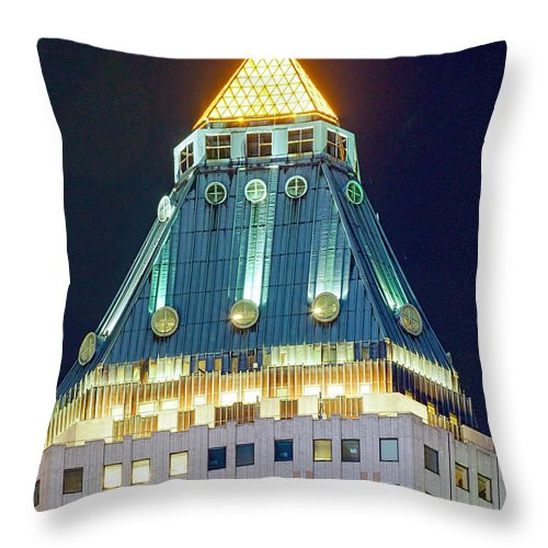 Architecture Throw Pillow featuring the photograph Davids Diamond by Kenneth Grant