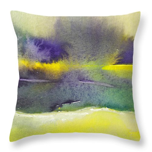 Landscapes Throw Pillow featuring the painting Dawn 20 by Miki De Goodaboom