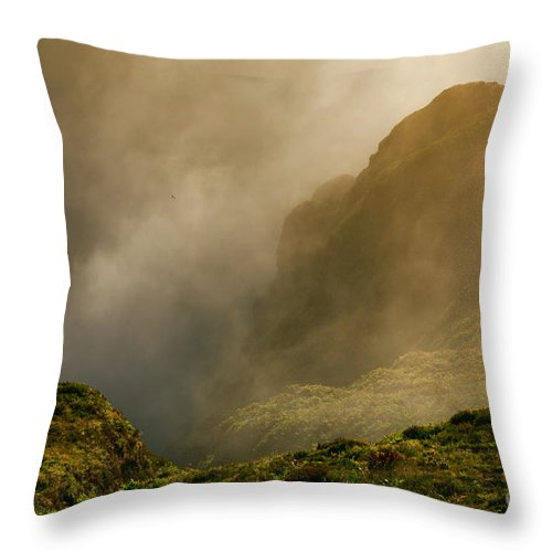 Azores Throw Pillow featuring the photograph Dawn At Fogo Crater by Gaspar Avila