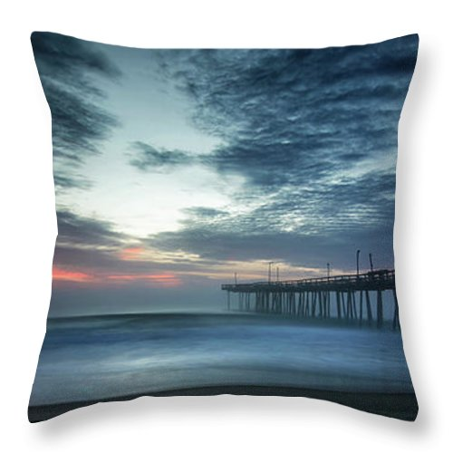 Sunrise Throw Pillow featuring the photograph Dawn Breaking Through by Art Cole