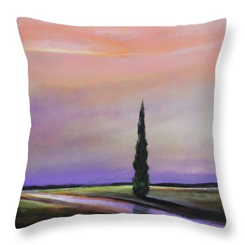 Tree Throw Pillow featuring the painting Dawn Of A New Day by Toni Grote