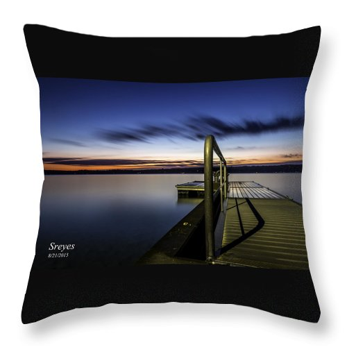 Skaneateles Lake Throw Pillow featuring the photograph Dawn On Skaneateles Lake by Scott Reyes