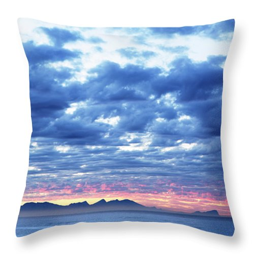 Dawn Throw Pillow featuring the photograph Dawn Over False Bay 2 by Neil Overy