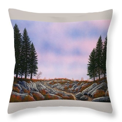 Landscape Throw Pillow featuring the painting Dawn Pacific Crest Trail by Frank Wilson