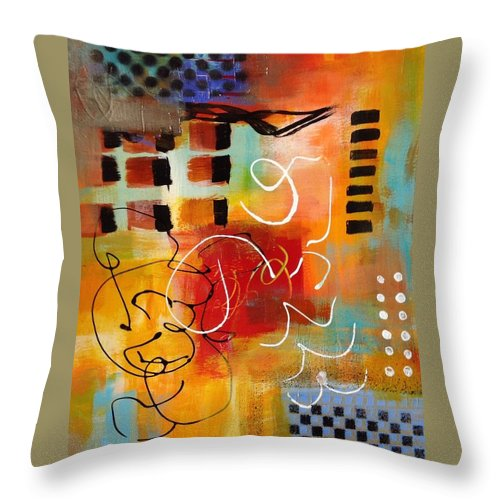 Throw Pillow featuring the painting Day 3...30 in 30 Challenge by Suzzanna Frank