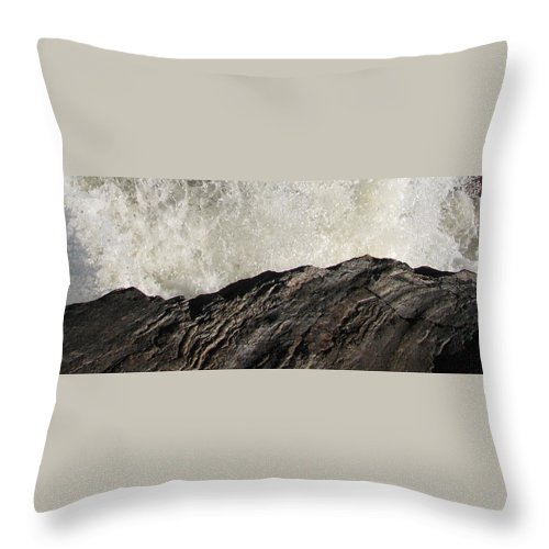 Abstract Throw Pillow featuring the photograph Day And Night by Kelly Mezzapelle