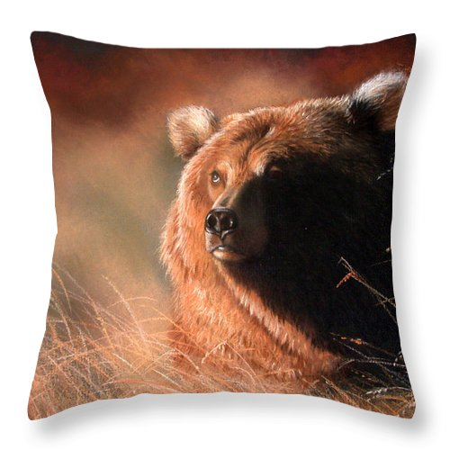 Wildlife Throw Pillow featuring the painting Day Dream by Deb Owens-Lowe