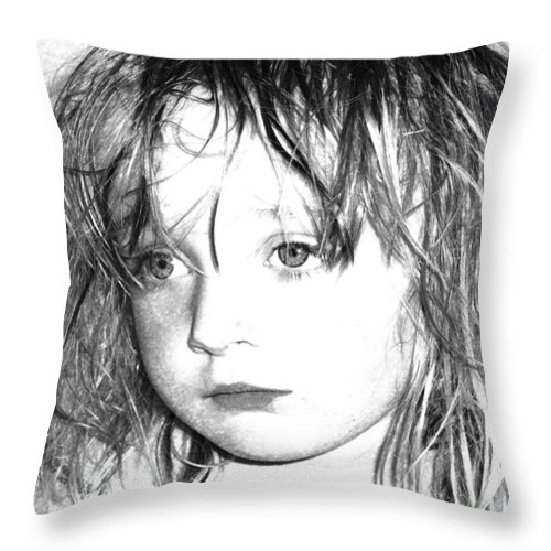 Day Dreaming Art Throw Pillow featuring the mixed media Day Dreaming by P Donovan