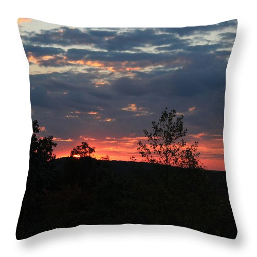 Sunset Throw Pillow featuring the photograph Day Is Done by Suzanne Gaff