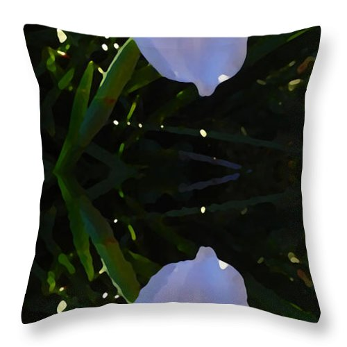 Daylily Throw Pillow featuring the painting Day Lily Reflection by Amy Vangsgard