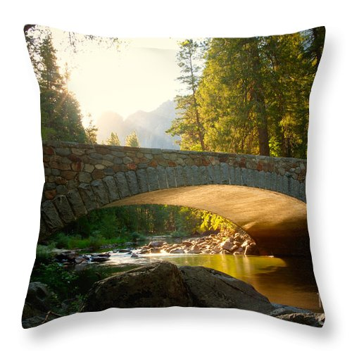 California Throw Pillow featuring the photograph Daybreak Crossing by Idaho Scenic Images Linda Lantzy