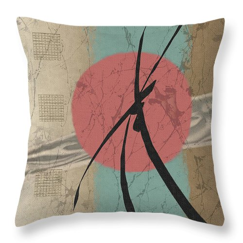 Contemporary Asian Japanese Oriental Abstract Sun Sunrise Sunset G Throw Pillow featuring the painting Daybreak by Gordon Beck