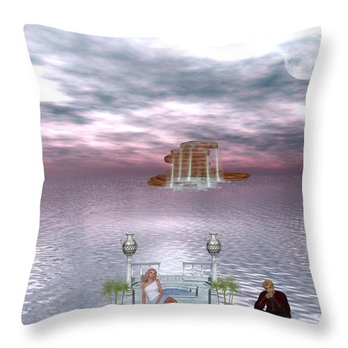 Daydreaming Throw Pillow featuring the digital art Daydreaming by RiaL Treasures