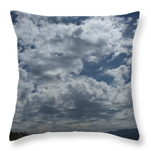 Clouds Throw Pillow featuring the photograph Daydreaming by Shari Chavira