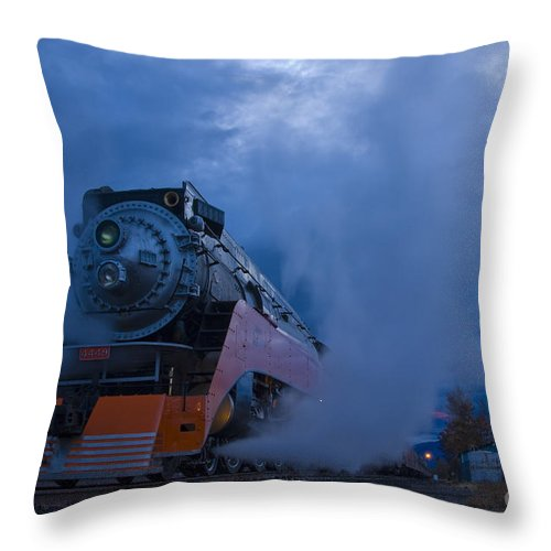Train Throw Pillow featuring the photograph Daylight 4449 by Idaho Scenic Images Linda Lantzy